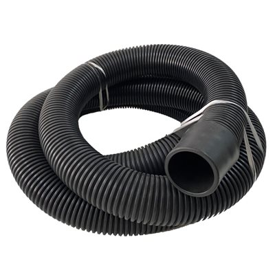 2'' vacuum hose with cuff, 25 ft