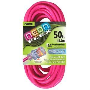 50ft, 12 / 3 SJTW Neon PINK