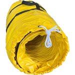 "12"" x 25' PVC BLOWER DUCT W / BAG-YEL / BLK"