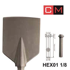 HEX01 1 / 8; Spade Chisel; 5x21