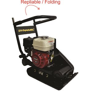 """60 kg, 12""""x21"""" Fordable plate compactor with Honda GX120"""